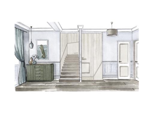 Дизайн интерьера таунхауса с мансардой