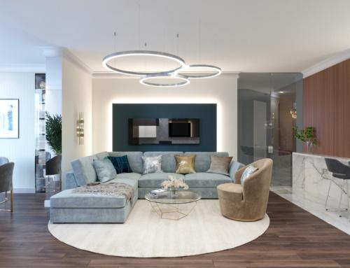 Дизайн интерьера квартиры с панорамными окнами