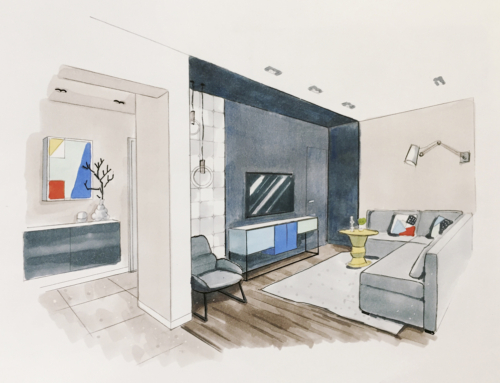 Дизайн интерьера квартиры-студии с одной спальней