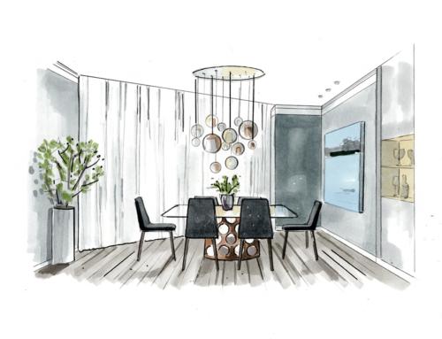 Дизайн проект квартиры в современном стиле. Крылатское.