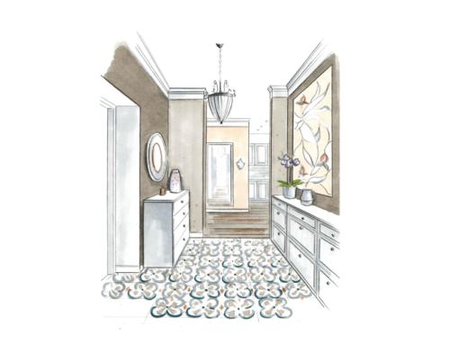 Дизайн проект квартиры в традиционном стиле