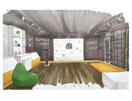 «Семейный бункер»-дизайн проект комнаты отдыха в цокольном этаже